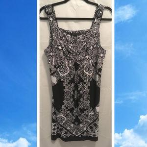 Size XL Style & Co Summer Dress Black White Slinky
